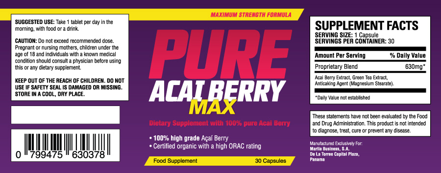 Acai berry Inhalt