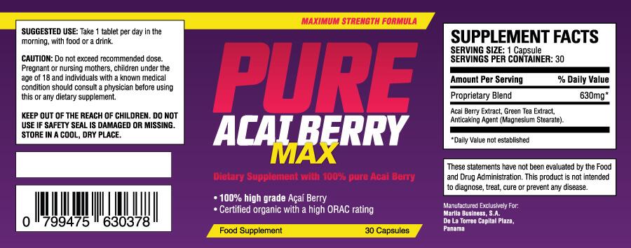Acai berry Inhalt